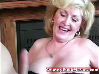 Cute blonde babe gets horny granny
