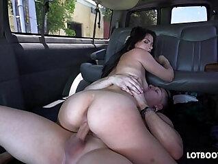 Beautiful big ass sexy amateur brunette tourist Alexis