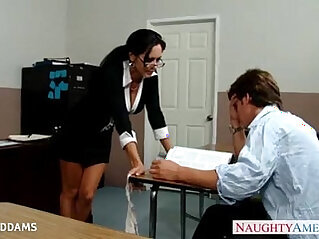 Teacher in glasses Ava Addams gets tits getting fucked