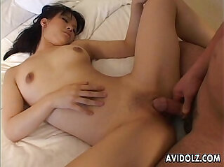 Asian getting her wet pussy stuffed