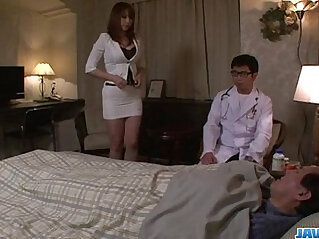 Araki Hitomi busty blonde milf craves for a hard ass fuck